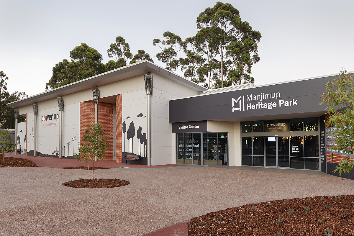entrance to the Power Up Electricity Museum and Manjimup Visitor Centre