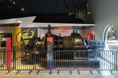 large engine in museum